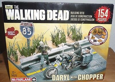 The Walking Dead McFarlane Toys Building Sets Daryl Dixon with Chopper 154 teile