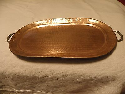Hammered copper 18 7/8 inch serving tray