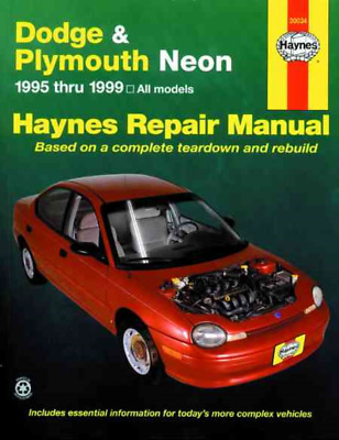 Haynes Workshop Manual Dodge Plymouth Neon 1995-1999 Service & Repair