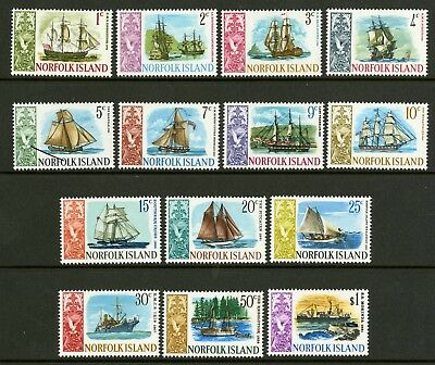 Norfolk Island   1967-687   Scott # 100-113  Mint Never Hinged Set
