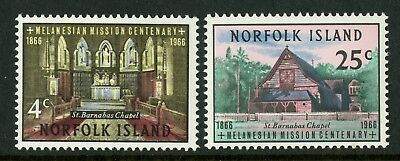 Norfolk Island   1966   Scott # 97-98  Mint Never Hinged Set