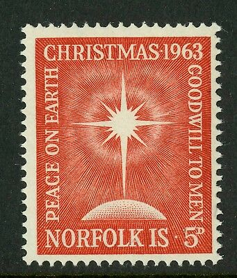 Norfolk Island   1963   Scott # 65  Mint Never Hinged Set