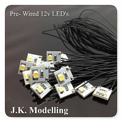 Pre-Wired 3528 SMD LED (x4 / x8)  Warm White or Bright White