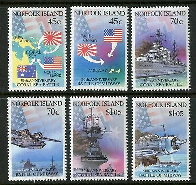 Norfolk Island   1992   Scott # 520-525    Mint Never Hinged Set