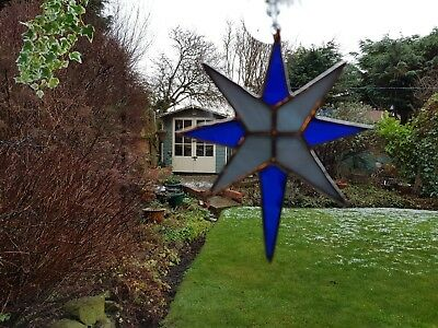 Stained Glass Star Suncatcher or Wall Mount.