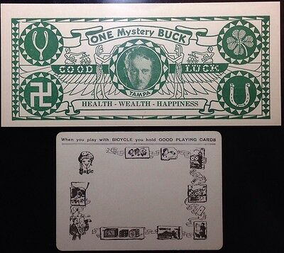 1933 Magician & Fortune Teller Artifact + vTg Bicycle Throw Out Playing Card