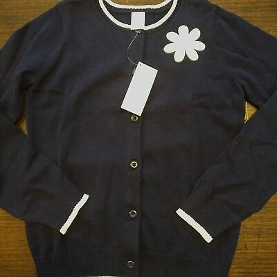 NWT Gymboree outlet Flower Shower Navy Daisy Cardigan Sweater Size 10/12