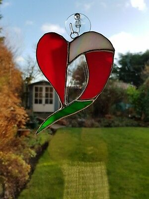 Stained Glass Heart Suncatcher or Wall Mount.