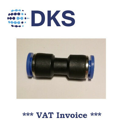 Straight Equal Push In Fit Pneumatic Fittings Air 6mm Connector tube 000619