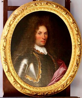 French School Portrait Of an Aristocrat 18th Century Original Oil Painting