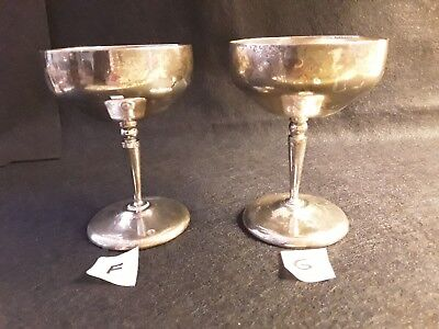 Vintage Silver Plated Goblet Chalice Set of 2  Cups   F and G