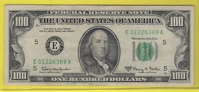 1963A (E)  Federal Reserve Note One Hundred Dollar Bill..fine..$100.00..389