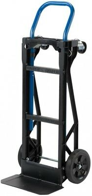 Hand Truck Moving Dolly 2-in-1 Convertible 4-Wheel Platform Steel Cart 400 lb.