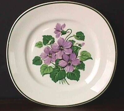 "**marsh Violet (1) 6 3/8"" Plate Taylor, Smith & Taylor Uw31-G"