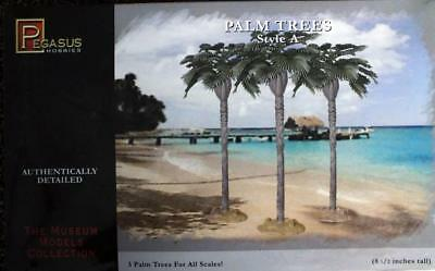 """PEGASUS Museum Models PALM TREES Style A 3/pk 8.5"""" Tall ALL SCALES NEW!"""