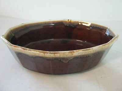 McCoy Oven Proof Brown Drip Vegetable Casserole Dish 7071 USA