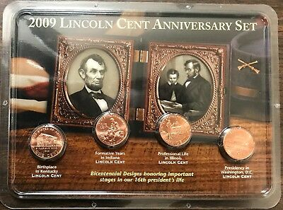 2009 Lincoln Cent Anniversary Set - Bicentennial Design Set!!!
