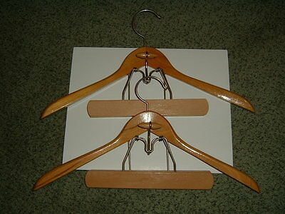 Vintage Wood Suit/ Jacket and Pant/Skirt Hangers / Lot of 2