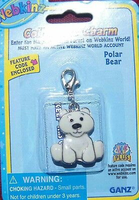 RARE WEBKINZ Polar Bear CHARM Jewelry New in Package w/ Code