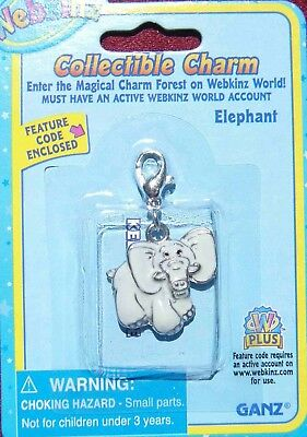 RARE WEBKINZ Elephant CHARM  Jewelry New in Package w/ Code