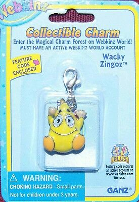WEBKINZ Wacky Zingoz CHARM Jewelry New in Package w/ Code
