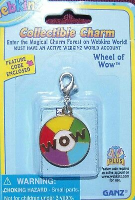 RARE WEBKINZ WHEEL OF WOW CHARM Jewelry New in Package w/ Code