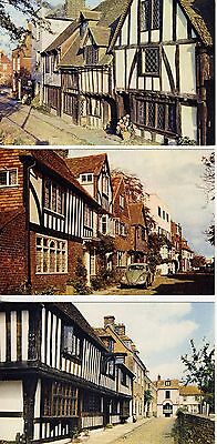 Watchbell Street, Rye Sussex England 3 Vintage Postcards Uncirculated Ex. Cond.