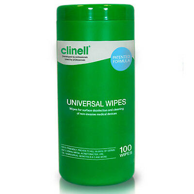 Clinell Universal Sanitising Wipes - Tube of 100