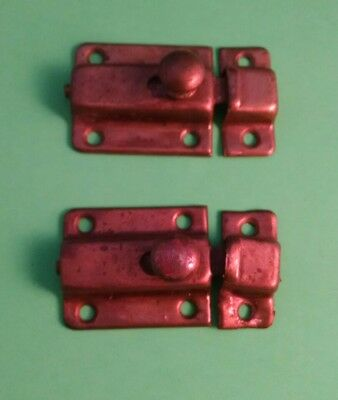 Lot of  2 Old Cupboard Door Latches Cabinet Latch Hardware Vintage Hoosier