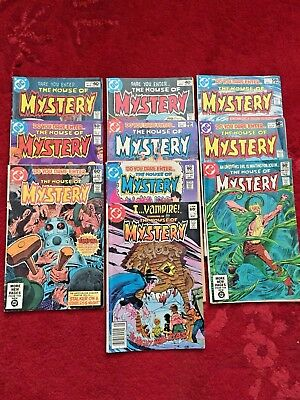 Vintage Lot Of 10 - HOUSE OF MYSTERY - DC Comics Bronze Age Horror
