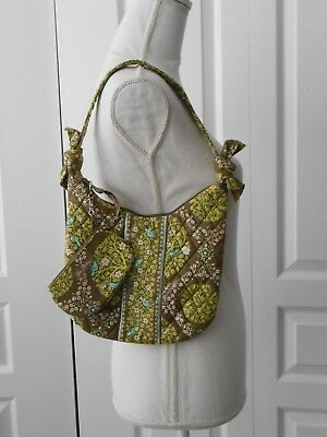"Vera Bradley ""Sittin in a Tree"" Small Bow Side Bag Purse with Coin Purse"