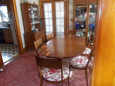 Antique Heywood Wakefield Contessa Dining Room Table Chairs Hutch 1959