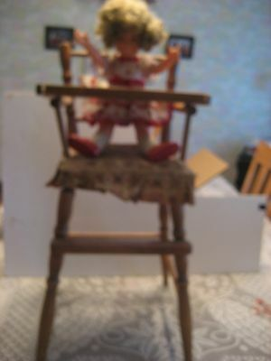 Excellent Complete Vintage Shirley Temple Doll Ideal complete with high chair.