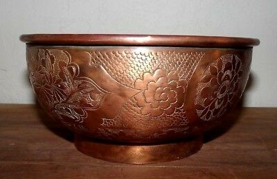 Vintage Copper Bowl Made In China Great Looking Decor Piece $19.99 Shipped!!
