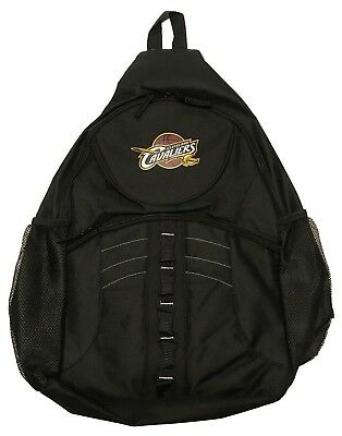 Cleveland Cavaliers Sling Laptop Backpack Official NBA Black Cavs Lebron New 6aef8731d9