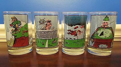 """Set of 4 Arby's Collectors Series 4-3/4"""" Drinking Glasses 1982 Gary Patterson"""