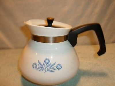Blue Cornflower Corning Ware 6 Cup Coffee ~ Tea Pot with Lid