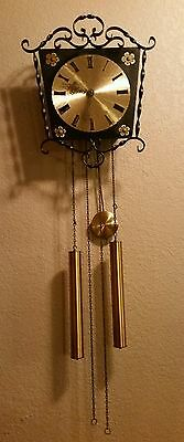 VINTAGE JUNGHANS~ GERMAN MID CENTURY~ RETRO PENDULUM WALL CLOCK with WEIGHTS
