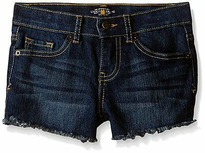 Lucky Brand Little Girls Riley Shorts Denim Jeans Dark Indigo Size 6