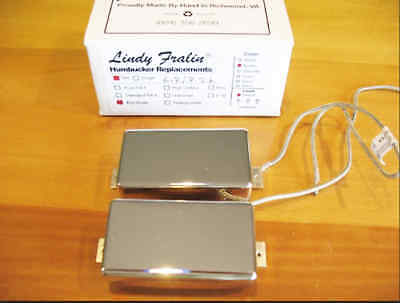 New Lindy Fralin Big Single Humbucker Set of 2 Nickel Cover Gibson Made in USA