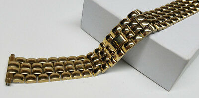 18 19 20 21 22mm VINTAGE SPEIDEL STAINLESS STEEL GOLD TONE WATCH BAND >NOS<