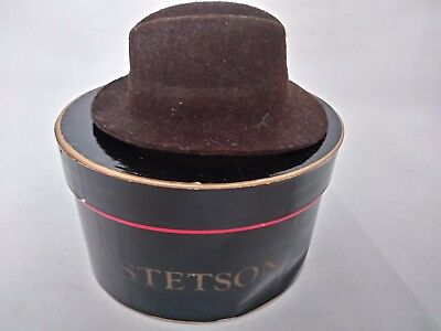 "STETSON Hats Purchase Certificate ""Salesman Sample"" Brown Felt Fedora Hat in Box"