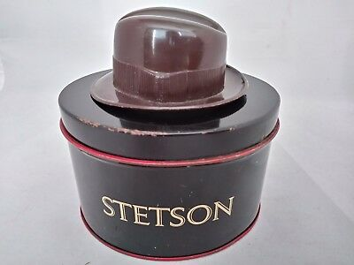 "STETSON Hats Purchase Certificate ""Salesman Sample"" Plastic Fedora In Tin"