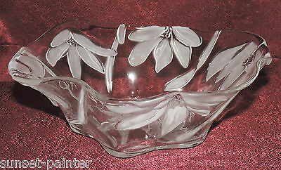 "Mikasa Fantasy Flower 10"" Glass Hostess Bowl SA 875/259"