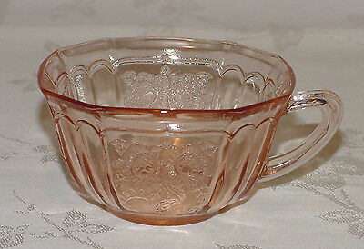 "PERFECT Vintage PINK Hocking ""MAYFAIR/OPEN ROSE"" Cup Only - X6!!"