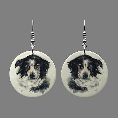 Natural Mother of Pearl Shell Dog Earrings Jewelry Fashion Gift S1708 0403