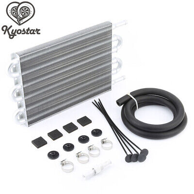 6 Row Aluminum Remote Transmission Oil Cooler Auto Manual Radiator Converter Kit