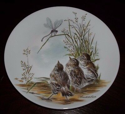 Kaiser Porcelain Wall Plate 66 Birds and Dragonfly