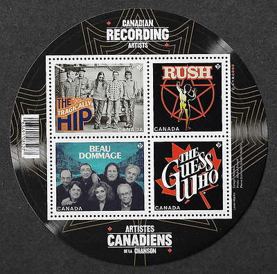 Canada Stamps — Souvenir Sheet — 2013, Recording Artists: The Bands #2655 — MNH