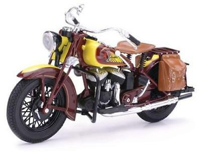 1:12 Indian Chief Diecast Model Motorcycle In Brown From NewRay